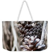 Dry Mediterranean Pinecone With Winter Colors Weekender Tote Bag