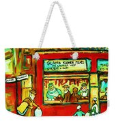 Meet Me At The Meat Market Weekender Tote Bag
