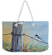 Meeting At The Old Fence Post Weekender Tote Bag