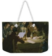 Meeting Of The First Partisans Resisting The Occupiers Weekender Tote Bag