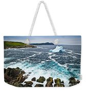 Melting Iceberg In Newfoundland Weekender Tote Bag by Elena Elisseeva