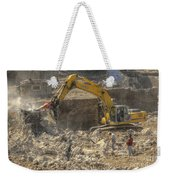 Men At Work Construction Site Weekender Tote Bag