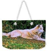 Menominie Park Grey Wolf Weekender Tote Bag