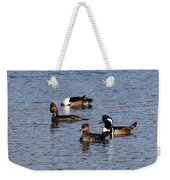 Mergansers After The Rain Weekender Tote Bag