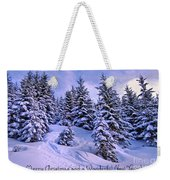 Merry Christmas And A Wonderful New Year Weekender Tote Bag