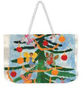 Merry Christmas Tree Fairies In Progress Weekender Tote Bag