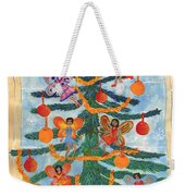 Merry Xmas Tree Fairies Weekender Tote Bag