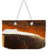 Mesa Arch First Light Weekender Tote Bag