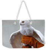 Message Snowy Owl Weekender Tote Bag