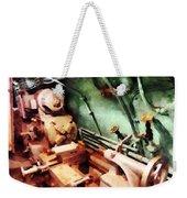 Metal Lathe In Submarine Weekender Tote Bag
