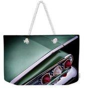 Metalic Green Impala Wing Vingage 1960 Weekender Tote Bag by Douglas Pittman