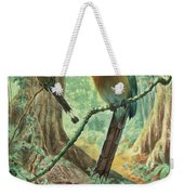 Mexican Motmots Are Perched On Jungle Weekender Tote Bag