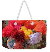 Mexican Paper Flowers And Talavera Pottery Weekender Tote Bag