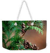 Michigan Cedar Cones Weekender Tote Bag