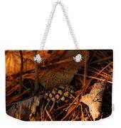 Michigan Golden Sunset Pine Cone Weekender Tote Bag