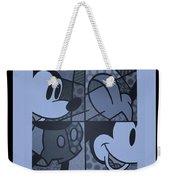 Mickey In Cyan Weekender Tote Bag