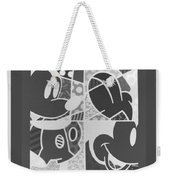 Mickey In Negative Black And White Weekender Tote Bag