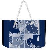 Mickey In Negative Deep  Blue Weekender Tote Bag