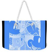 Mickey In Negative Light Blue Weekender Tote Bag