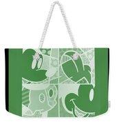 Mickey In Negative Olive Green Weekender Tote Bag
