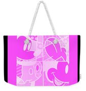 Mickey In Negative Pink Weekender Tote Bag