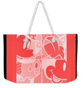Mickey In Negative Red Weekender Tote Bag