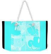 Mickey In Negative Turquois Weekender Tote Bag
