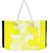 Mickey In Negative Yellow Weekender Tote Bag