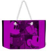 Mickey In Purple Weekender Tote Bag