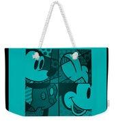 Mickey In Turquois Weekender Tote Bag
