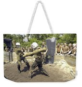 Midshipmen Battle With Pugil Sticks Weekender Tote Bag
