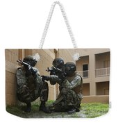 Midshipmen Take Cover During Urban Weekender Tote Bag