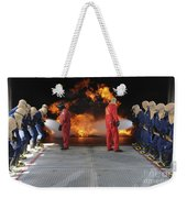 Midshipmen Work Together To Battle Weekender Tote Bag