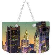 Midtown Buildings Morning Twilight Weekender Tote Bag by Clarence Holmes