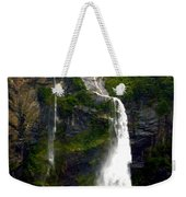 Milford Sound Waterfall Weekender Tote Bag