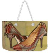 Military Camouflage Stilettos With Tassels Weekender Tote Bag
