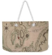 Military Plan Of The North Part Of Rhode Island Weekender Tote Bag