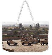Military Vehicles Parked Outside Loy Weekender Tote Bag