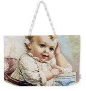 Milk Trade Card, 1893 Weekender Tote Bag