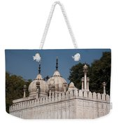 Minarets And Structure Of Pearl Mosque Inside Red Fort Weekender Tote Bag