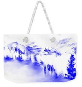 Minimal Landscape Monochrome In Blue 111511 Weekender Tote Bag