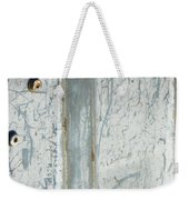 Minimalism With Two Bolts Weekender Tote Bag