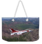 Minute Men Paint Scheme On An F-16 Weekender Tote Bag