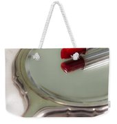 Mirror And Lipstick Weekender Tote Bag