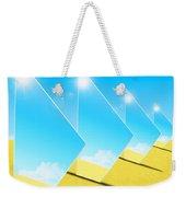 Mirrors On Sand In Blue Sky Weekender Tote Bag