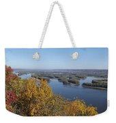 Mississippi River Fall Weekender Tote Bag