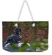 Missy Wood Duck Weekender Tote Bag