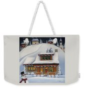 Mistletoe Cottage Weekender Tote Bag