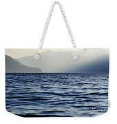 Misty Alpine Lake With Mountains Weekender Tote Bag