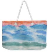 Misty Morning On Blue Hills Weekender Tote Bag